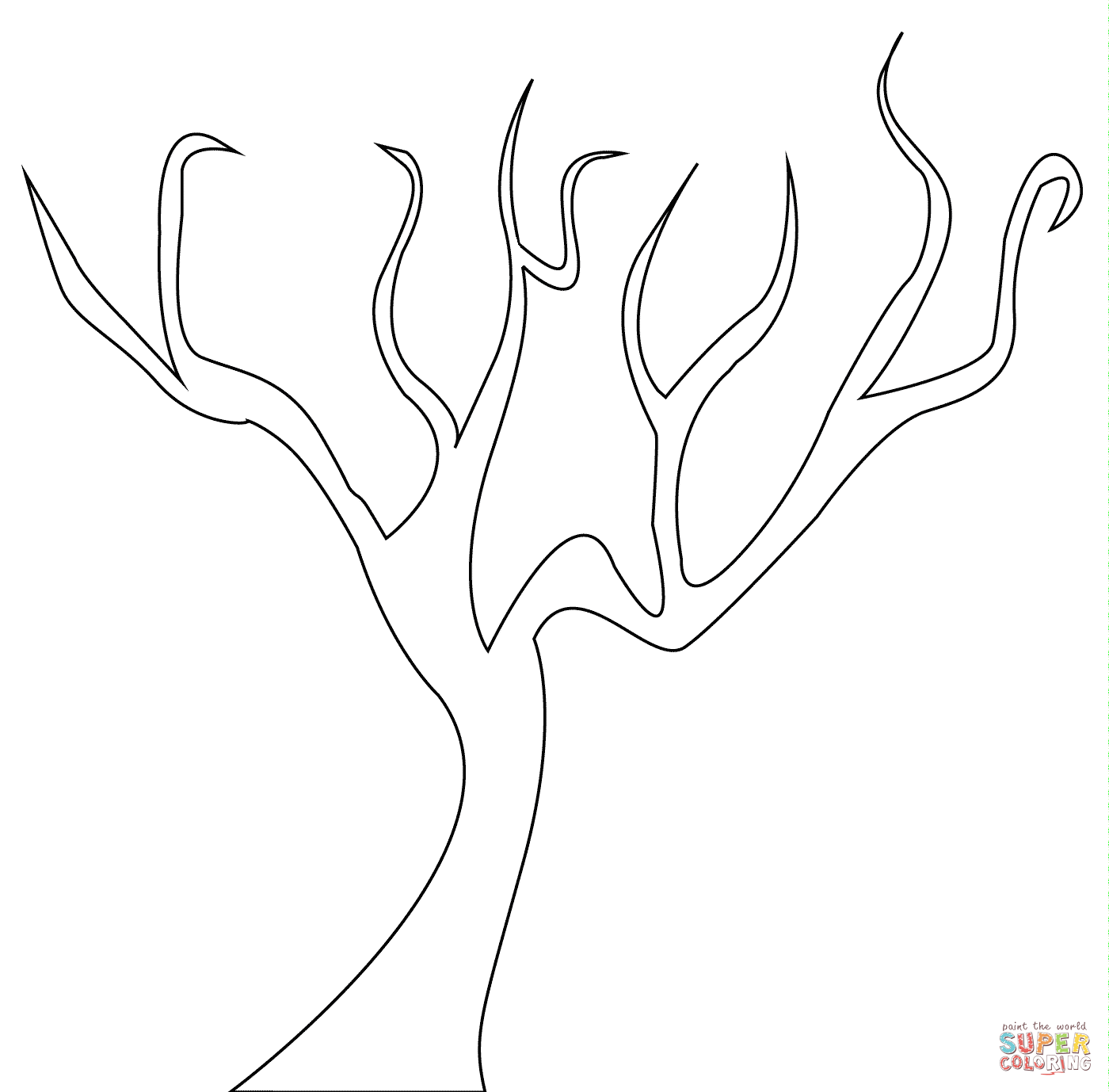Bare Tree Coloring Page Coloring Home Bare Tree Coloring Page