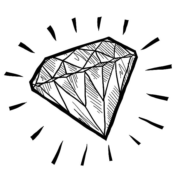 Diamond shape coloring page az coloring pages for Diamond coloring page