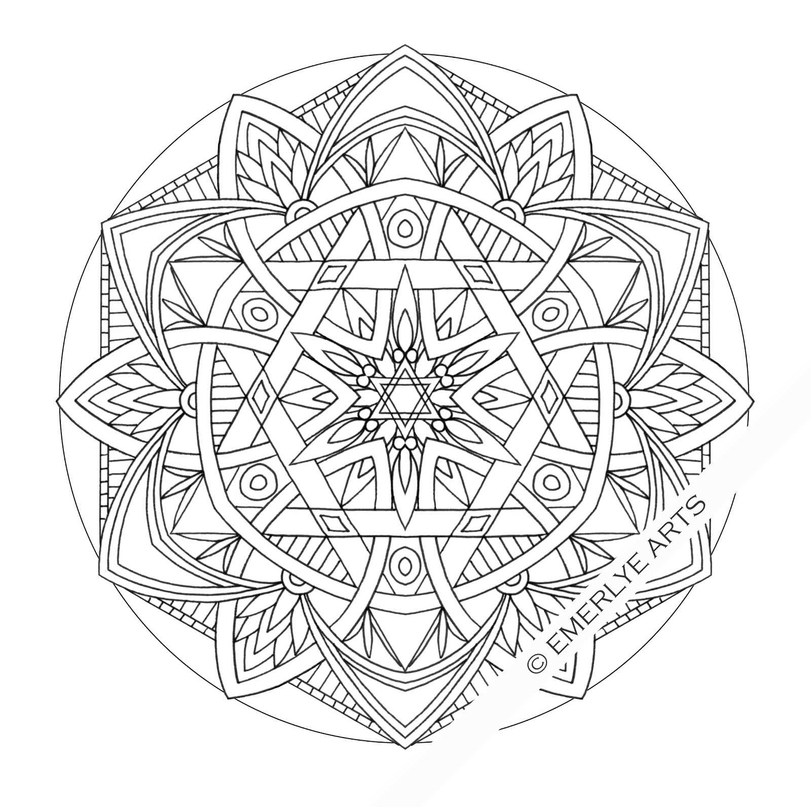 Awesome Design Mandala Coloring Pages Free Printable  Coloring Home