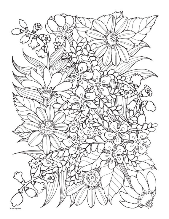 Wild Flowers Coloring Pages Coloring Home