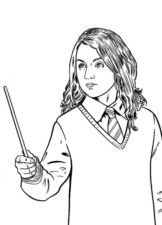 Luna Lovegood Malvorlagen And Harry Potter On Pinterest Coloring Home