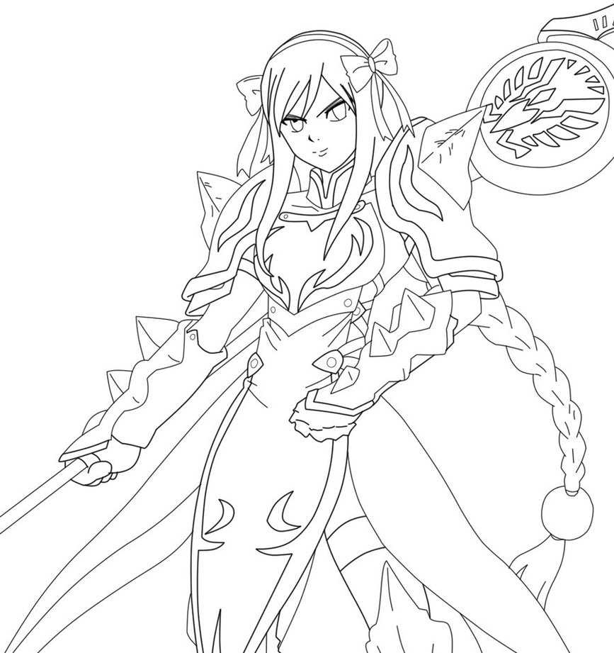 Fairy Tail Erza Coloring Pages