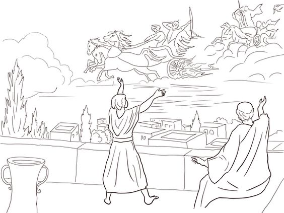 Elisha And The Invisible Angel Army Coloring Page JehovahSabaoth