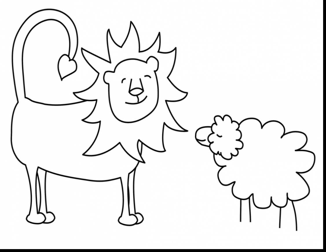 coloring pages lion and lamb - photo#16
