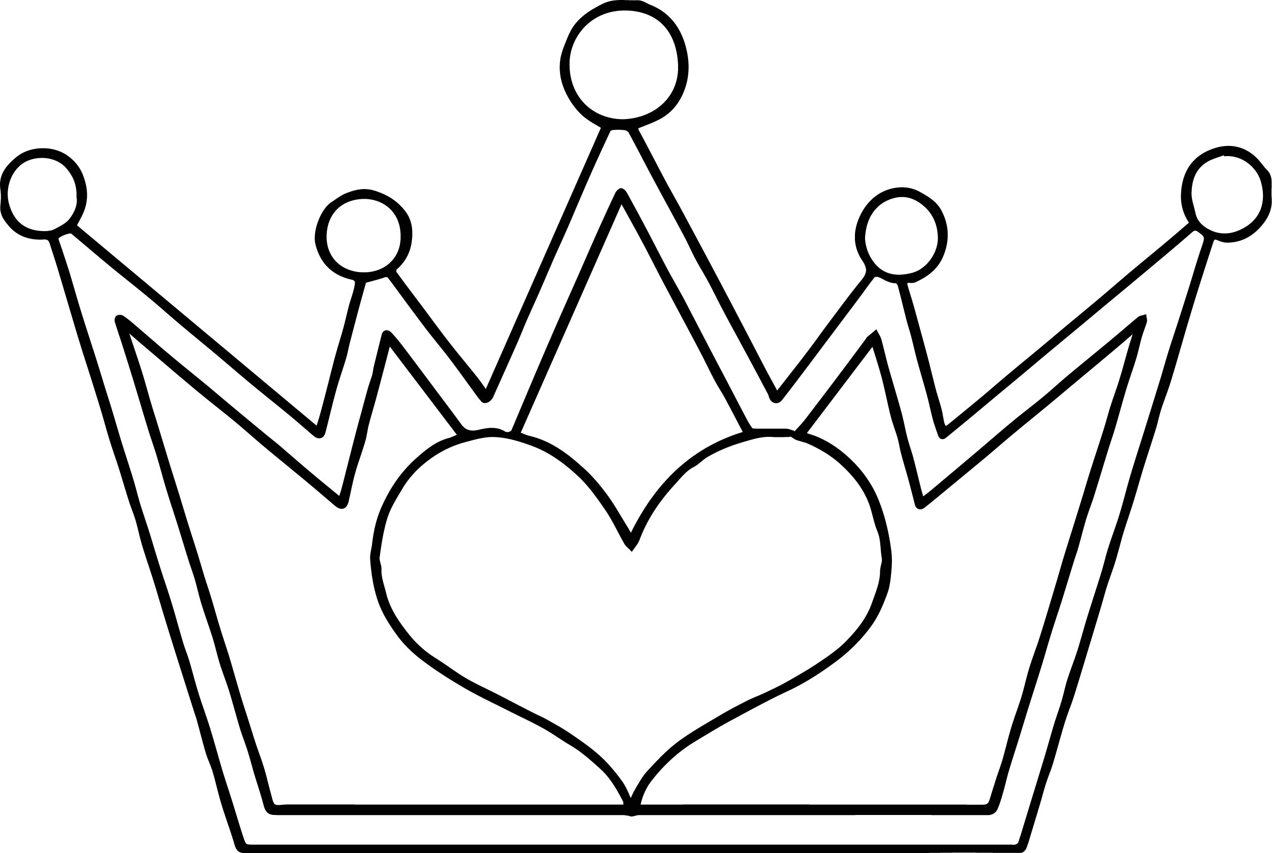 princess crown coloring page futpalcom