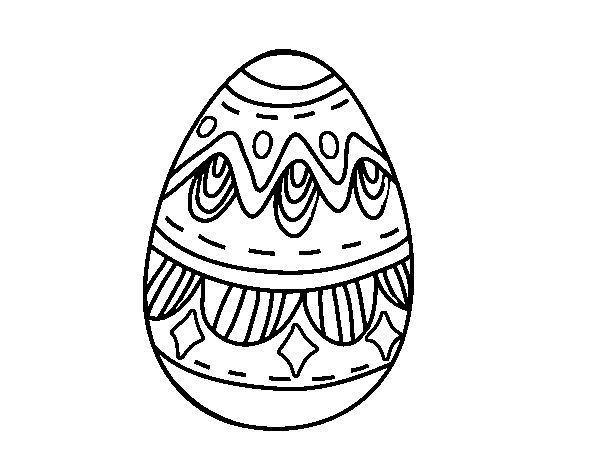 Easter egg with diamonds coloring page - Coloringcrew.com