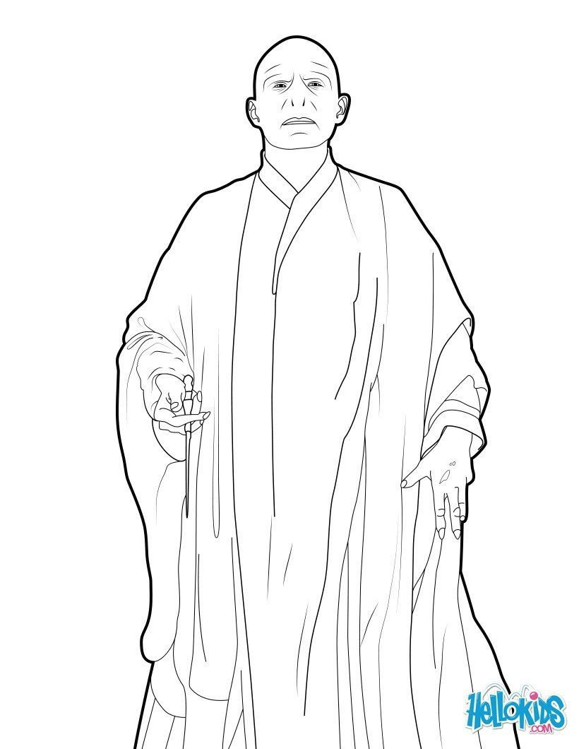 Harry Potter Coloring Pages for Kids Voldemort Coloring Pages Hellokids in  2020 | Harry potter coloring pages, Harry potter colors, Voldemort