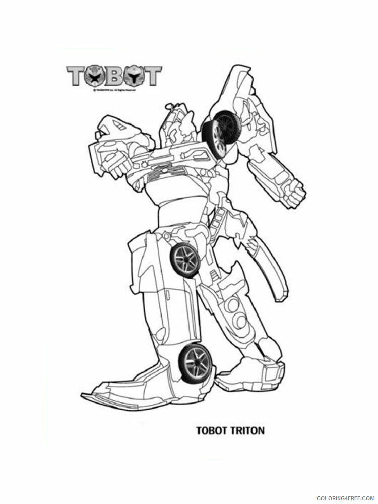Tobot Coloring Pages Coloring Home