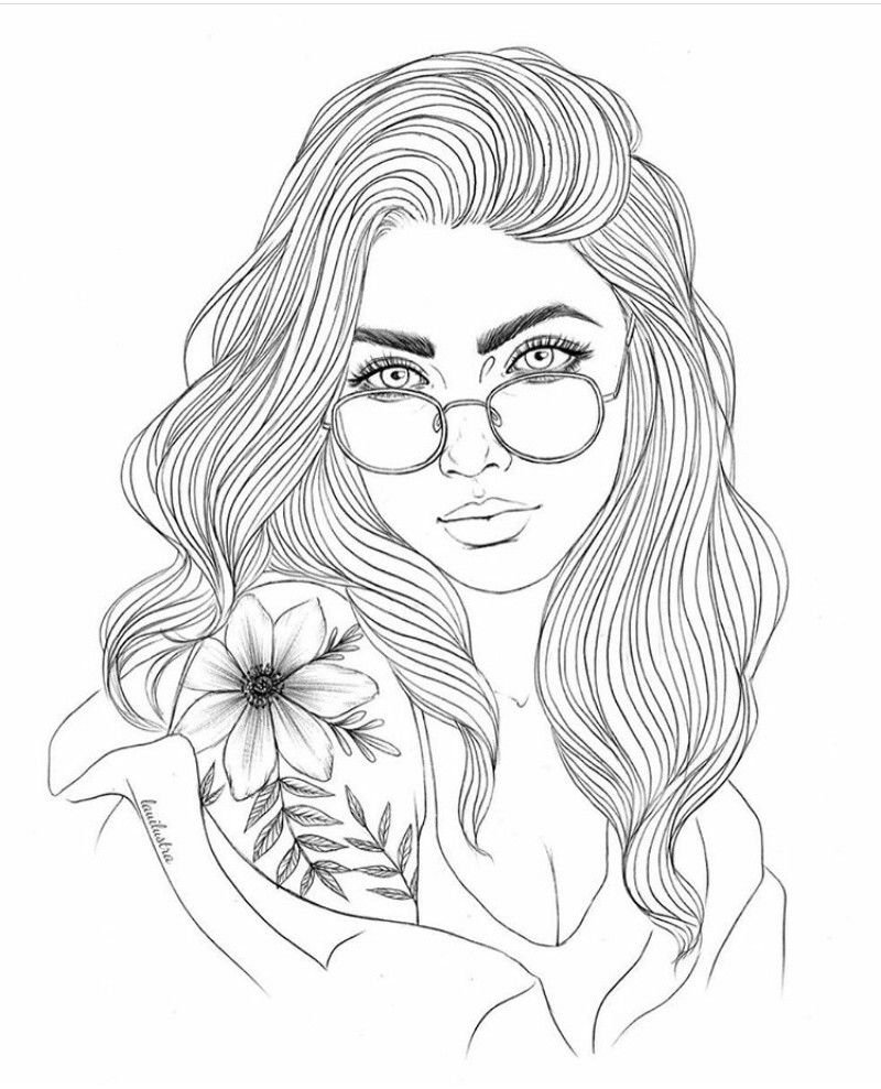 Gurlll | People coloring pages, Coloring pages, Coloring book art
