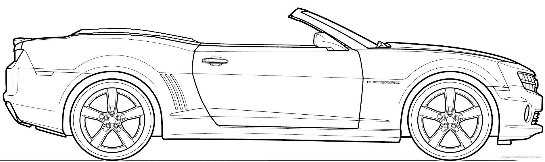 Chevy camaro coloring page coloring home for Convertible car coloring pages