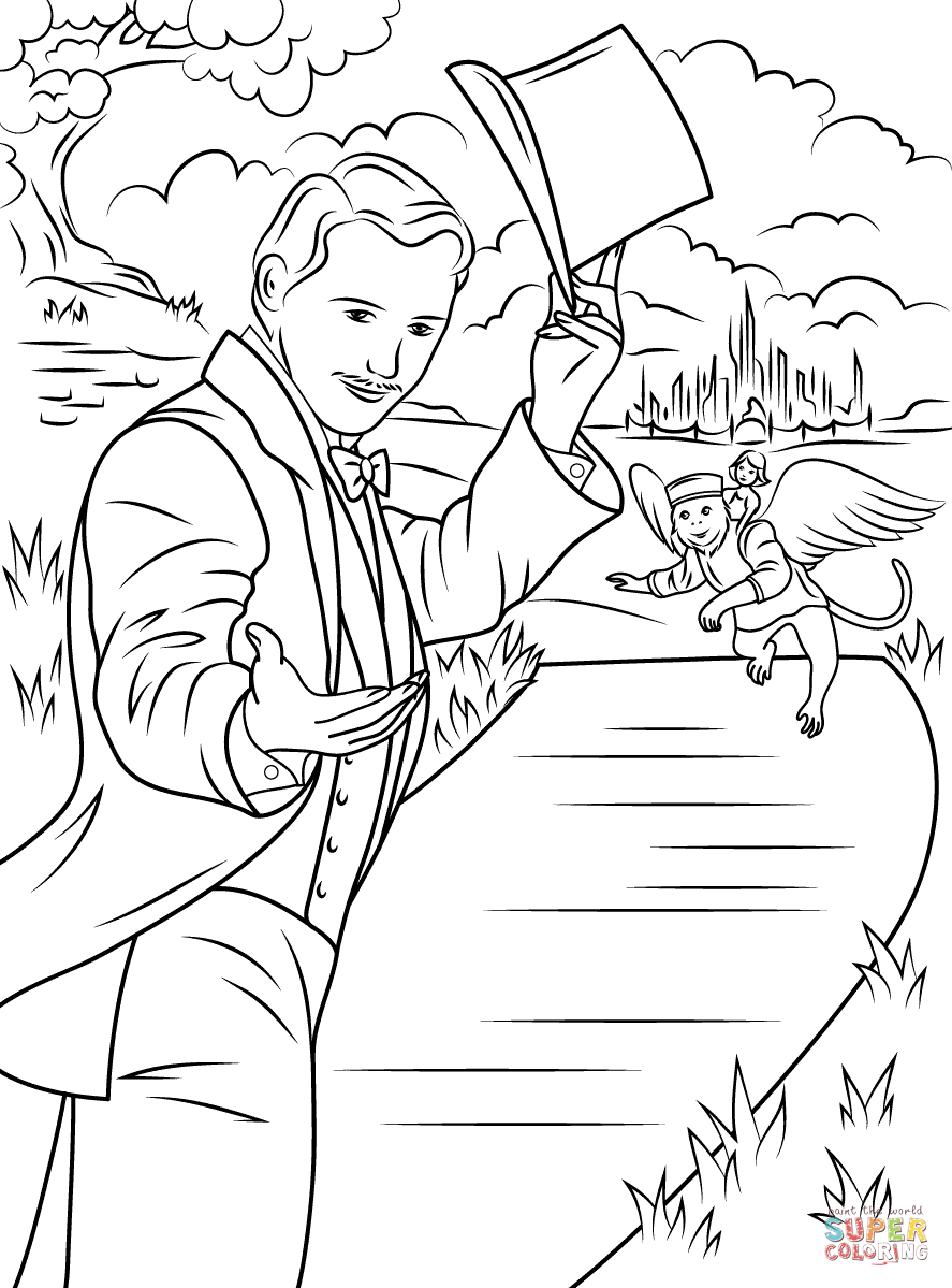 oz the great and powerful coloring page free printable coloring - Tornado Coloring Pages Printable