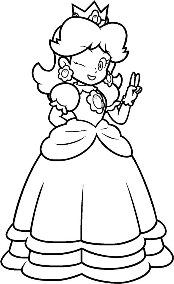 Super mario daisy coloring pages az coloring pages for Super mario coloring pages online
