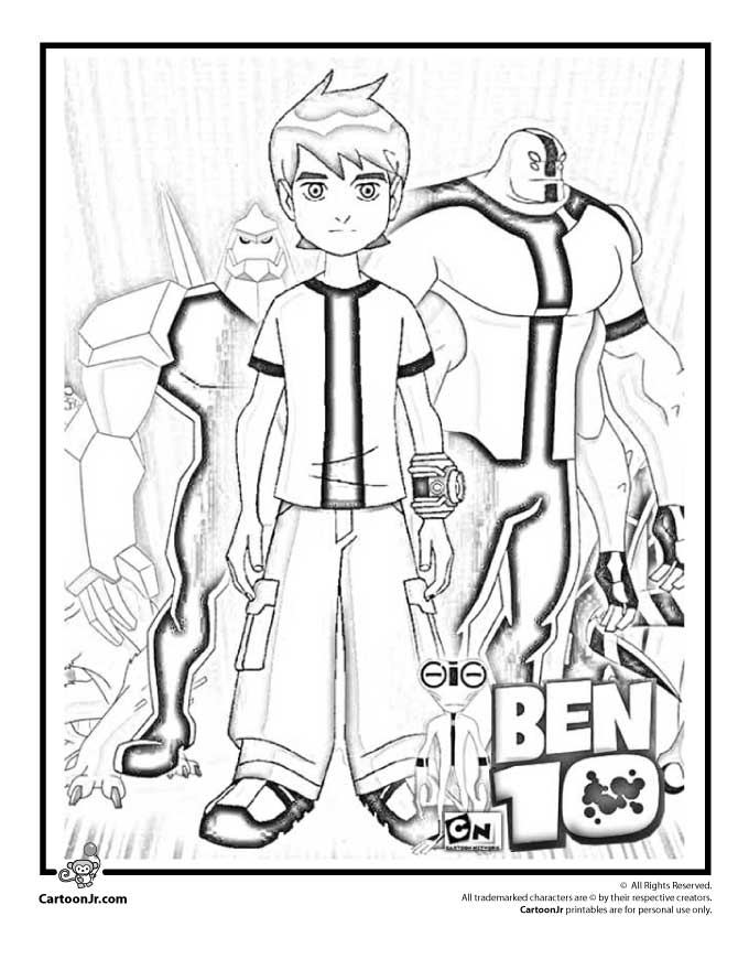 Simple Way To Color Ben 10 Coloring Pages