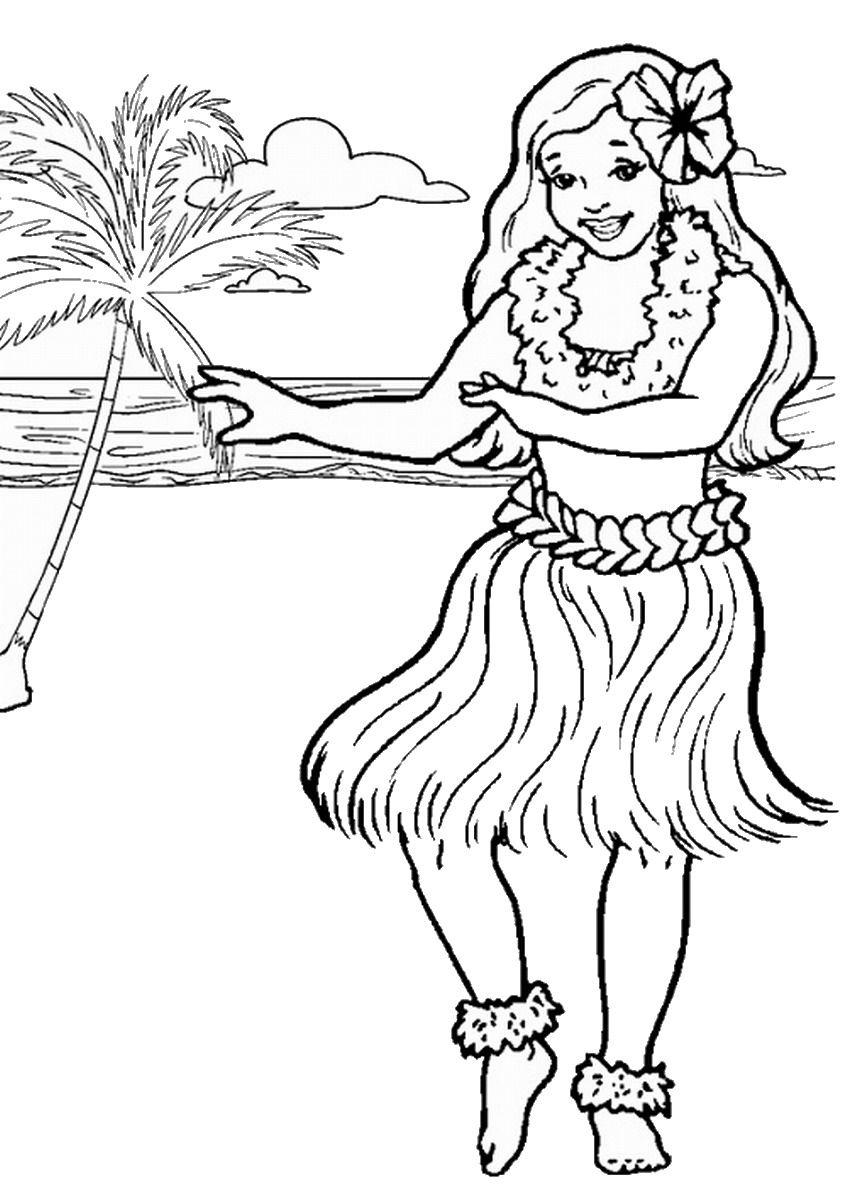 hawaiian coloring pages for kids - photo#25