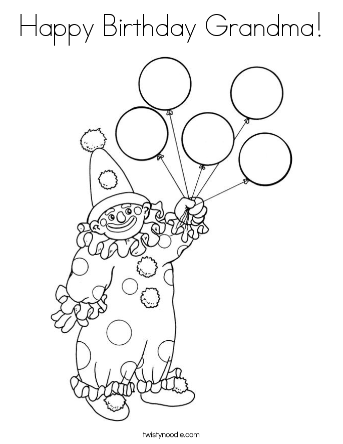 happy birthday grandma coloring pages - photo#18