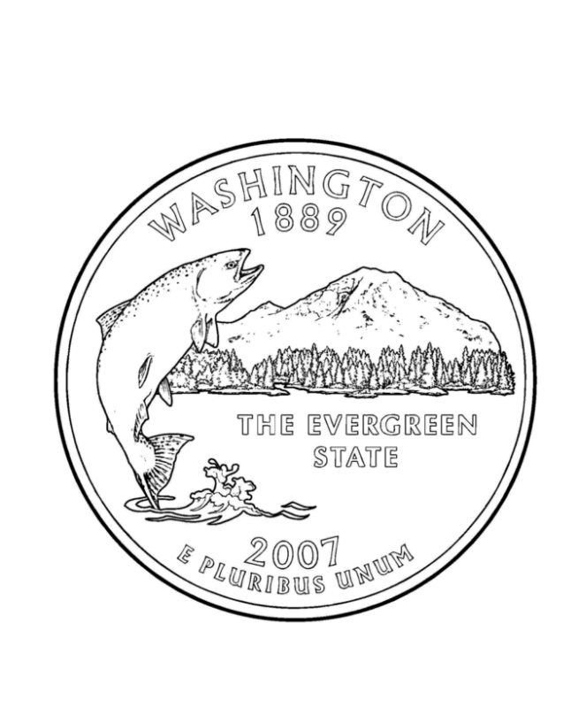 Washington State Coloring Page