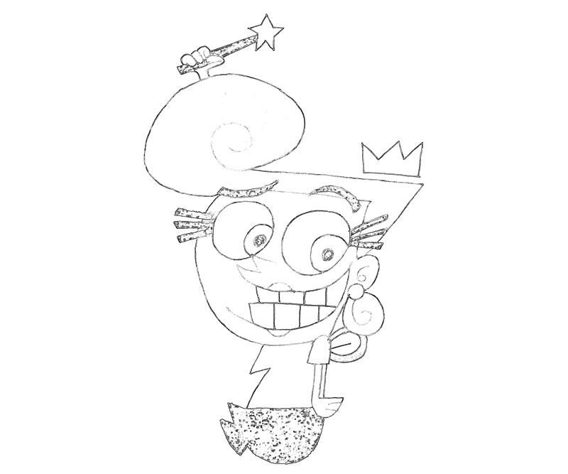 cosmo and wanda coloring pages coloring home