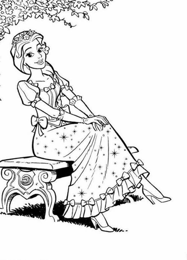 pretty girl coloring page coloring home