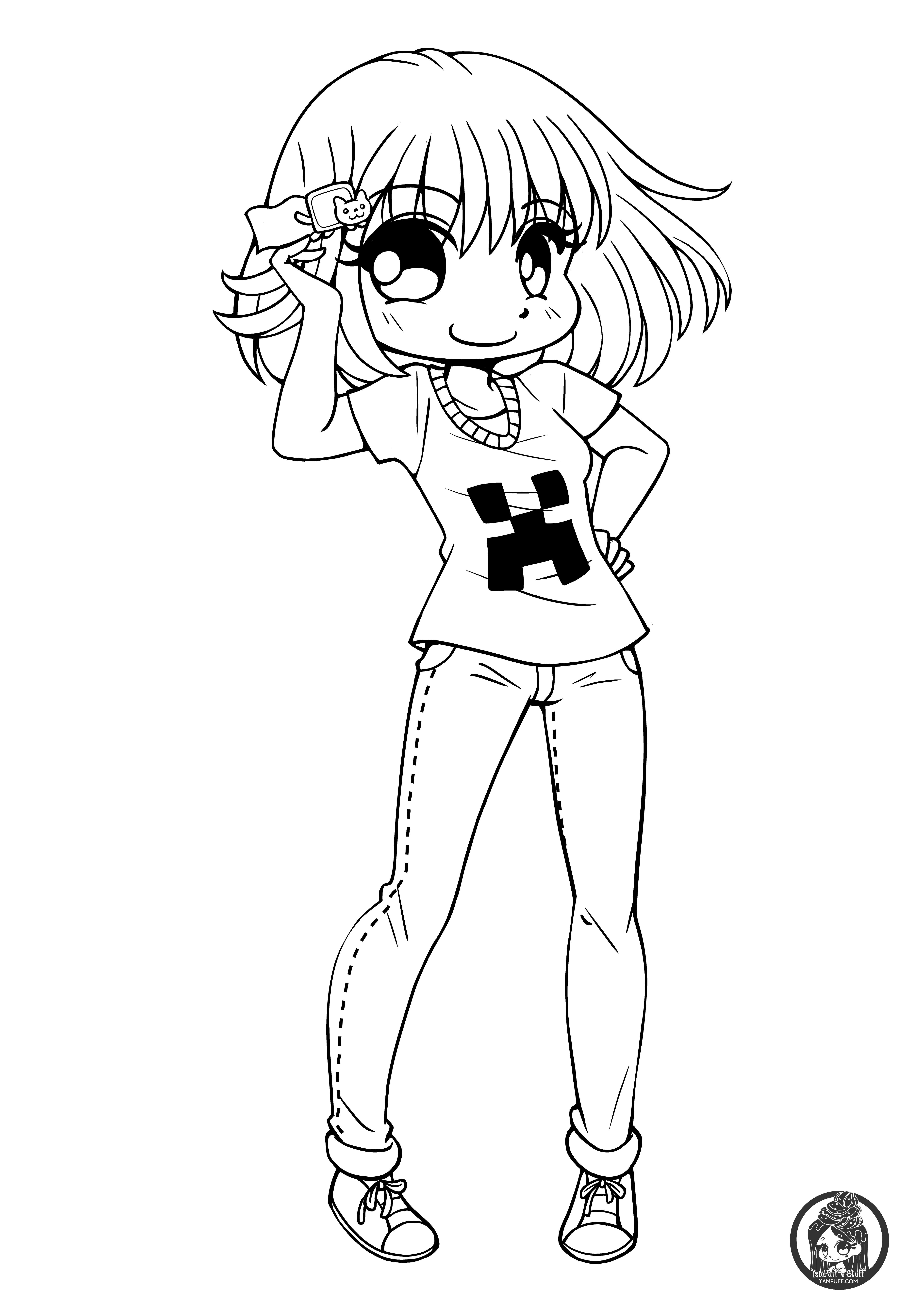 25 Of the Best Ideas for Cute Anime Chibi Girl Coloring Pages ...