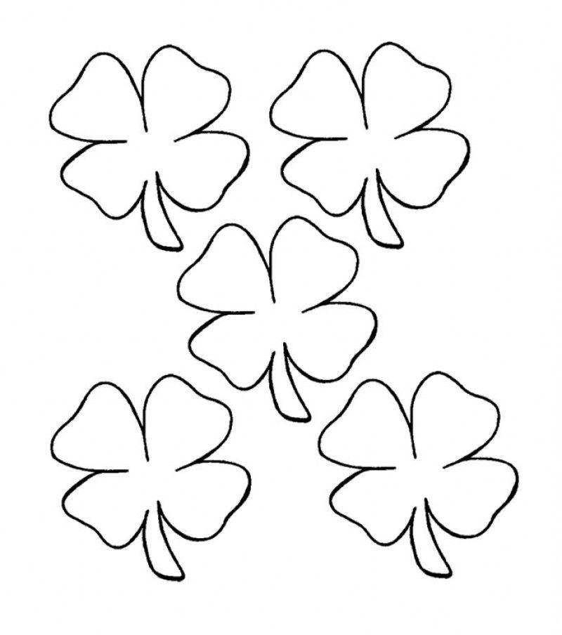 printable 4 leaf clover  coloring home