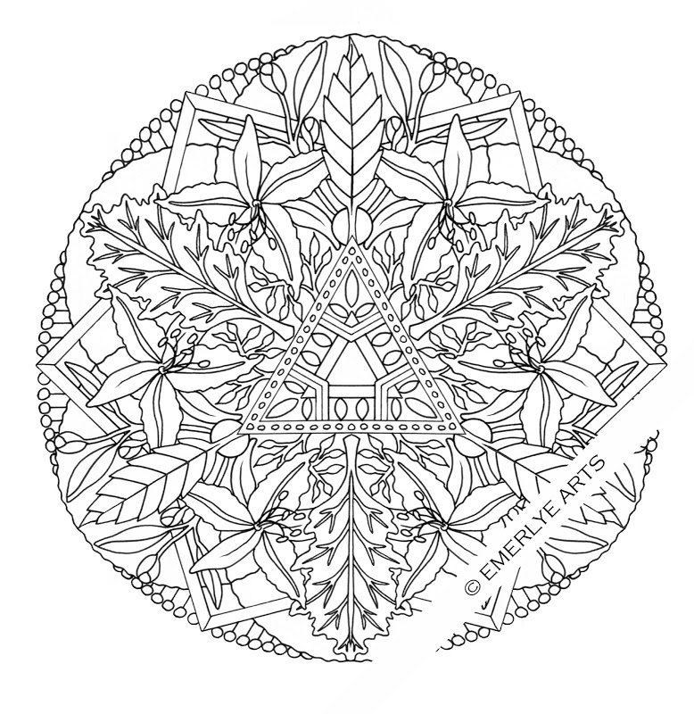 Abstract Flower Coloring Pages