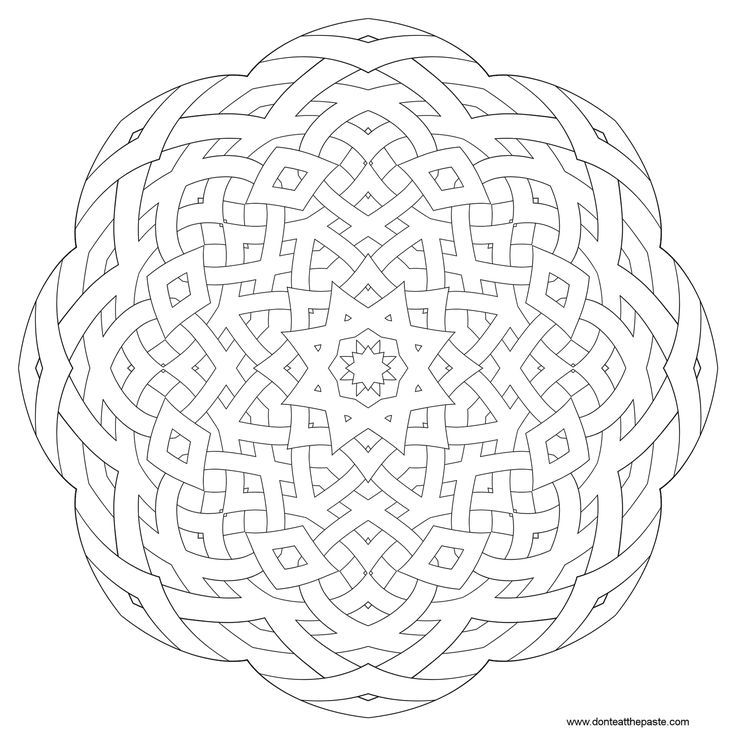 intricate geometric coloring pages - photo#12