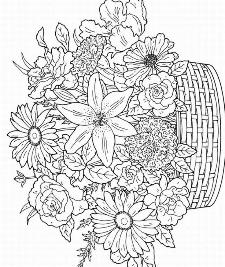 - Flowers Coloring Pages For Adults - Coloring Home