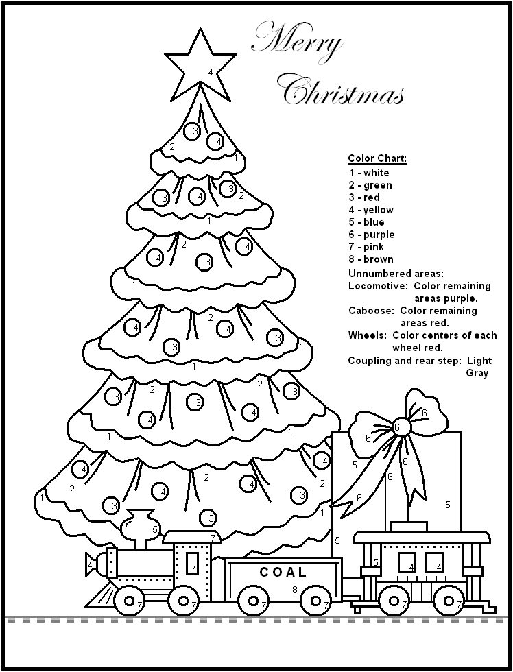 color by number tree Colouring Pages (page 2)