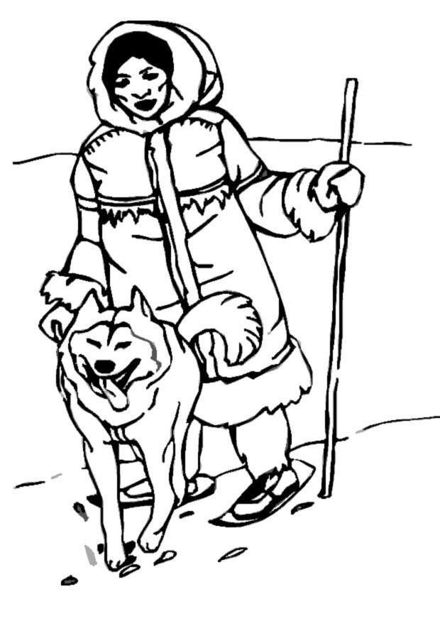 eskimo coloring pages - photo#14