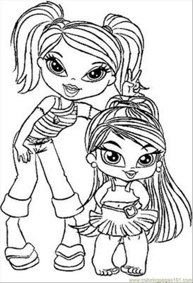 baby bratz free coloring pages - photo #1