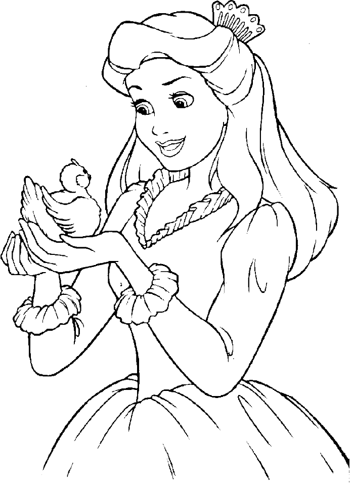 princess coloring pages online - photo#3