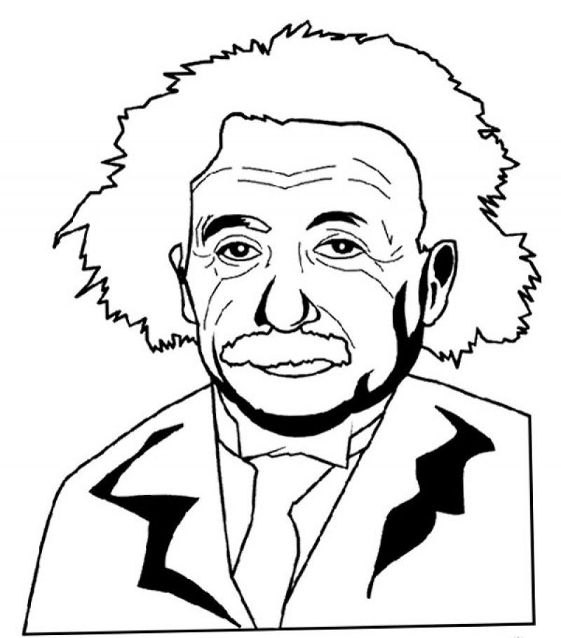 Albert Einstein Coloring Pages Az Coloring Pages Albert Einstein Coloring Pages
