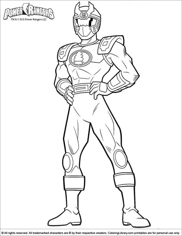 Power Rangers Coloring Pages Pdf : Power rangers coloring picture az pages