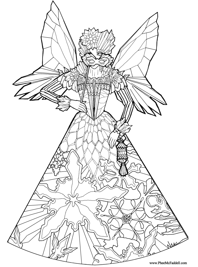 Coloring Pages Princess Fairy