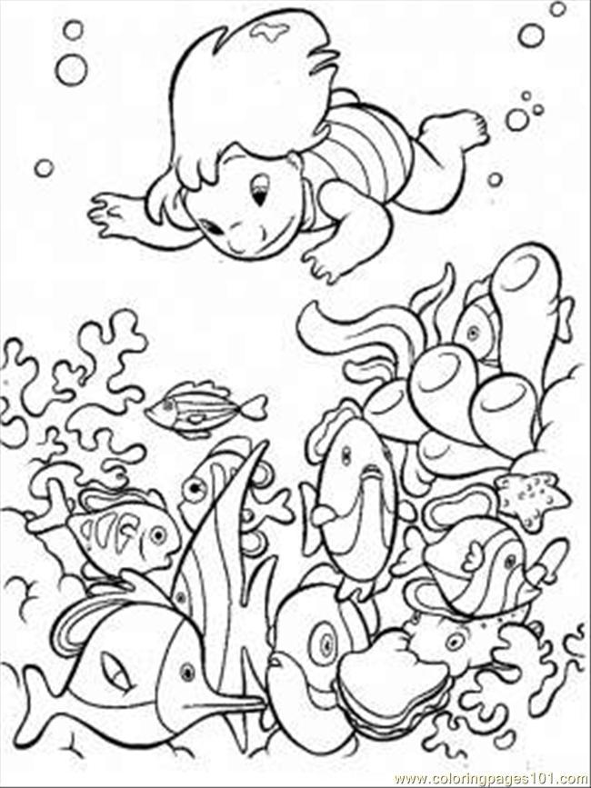 Preschool Ocean Coloring Pages