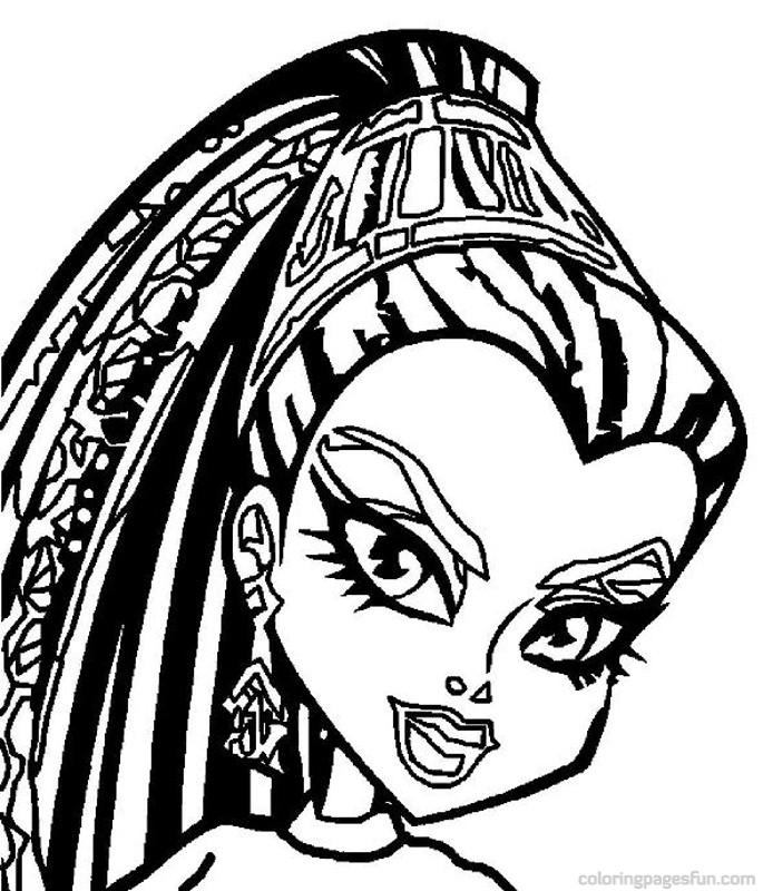 Monster high coloring pages az coloring pages for Monster high coloring pages to print out