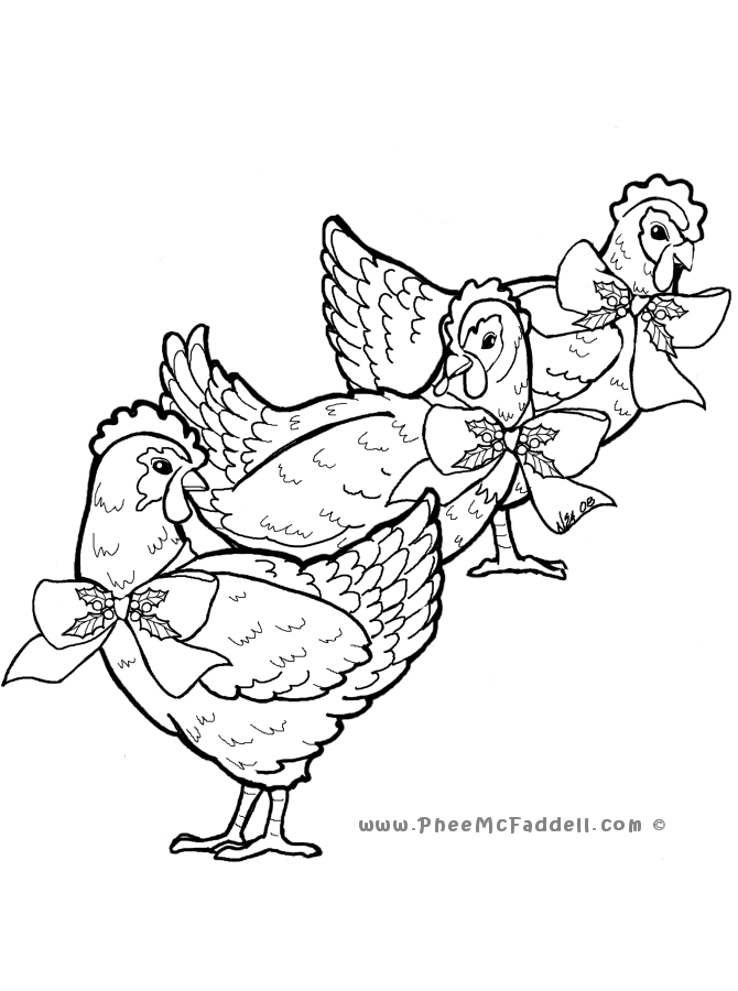 hens coloring pages - photo#35
