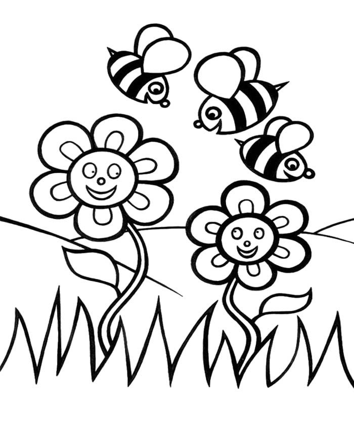 spring garden Colouring Pages (page 3)