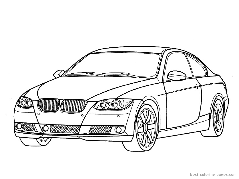 printabl sportcar coloring pages - photo#27