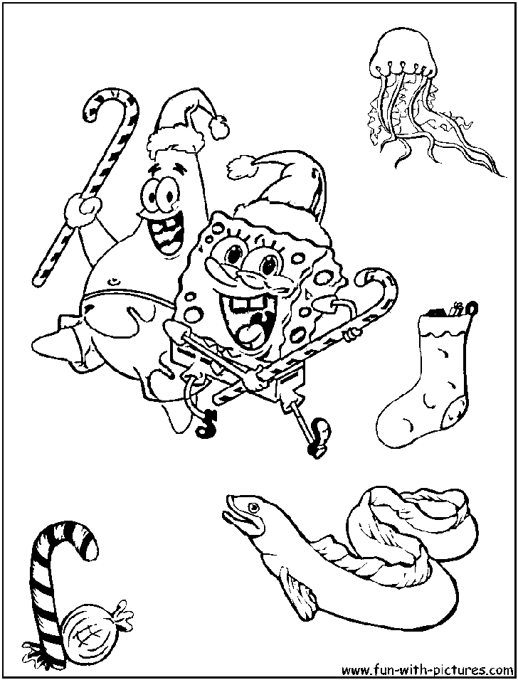 Spongebob Christmas Coloring Pages - Coloring Home