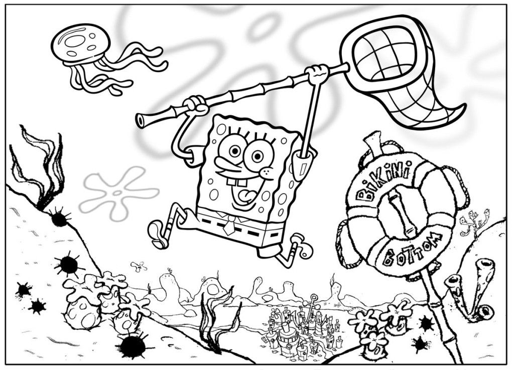 free spongebob coloring pages - spongebob color pages coloring home