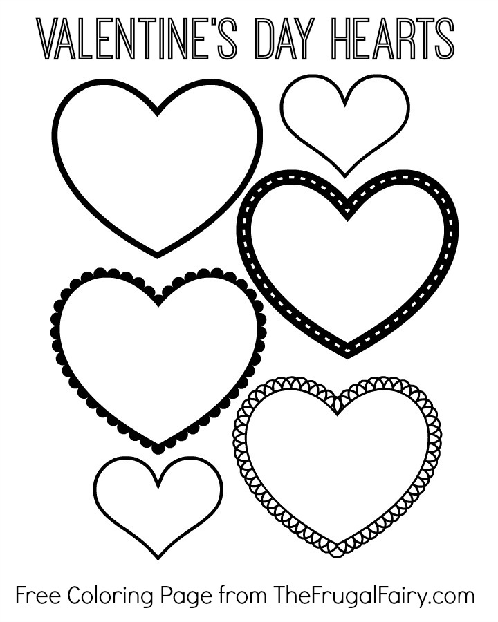 Heart Shape Coloring Pages Az Coloring Pages Valentines Day Hearts Coloring Pages