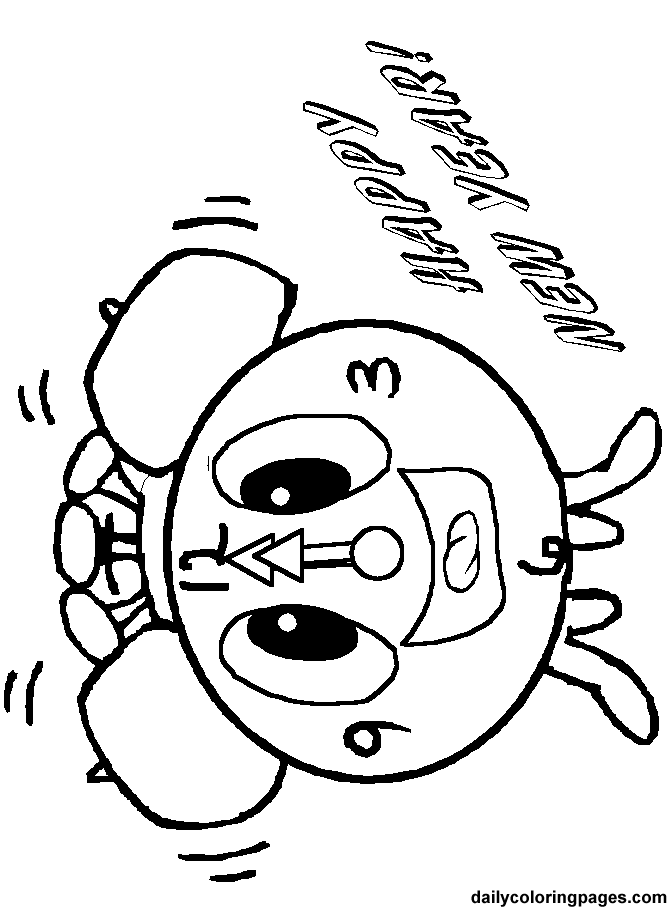 New Year's Eve Coloring Pages Holiday