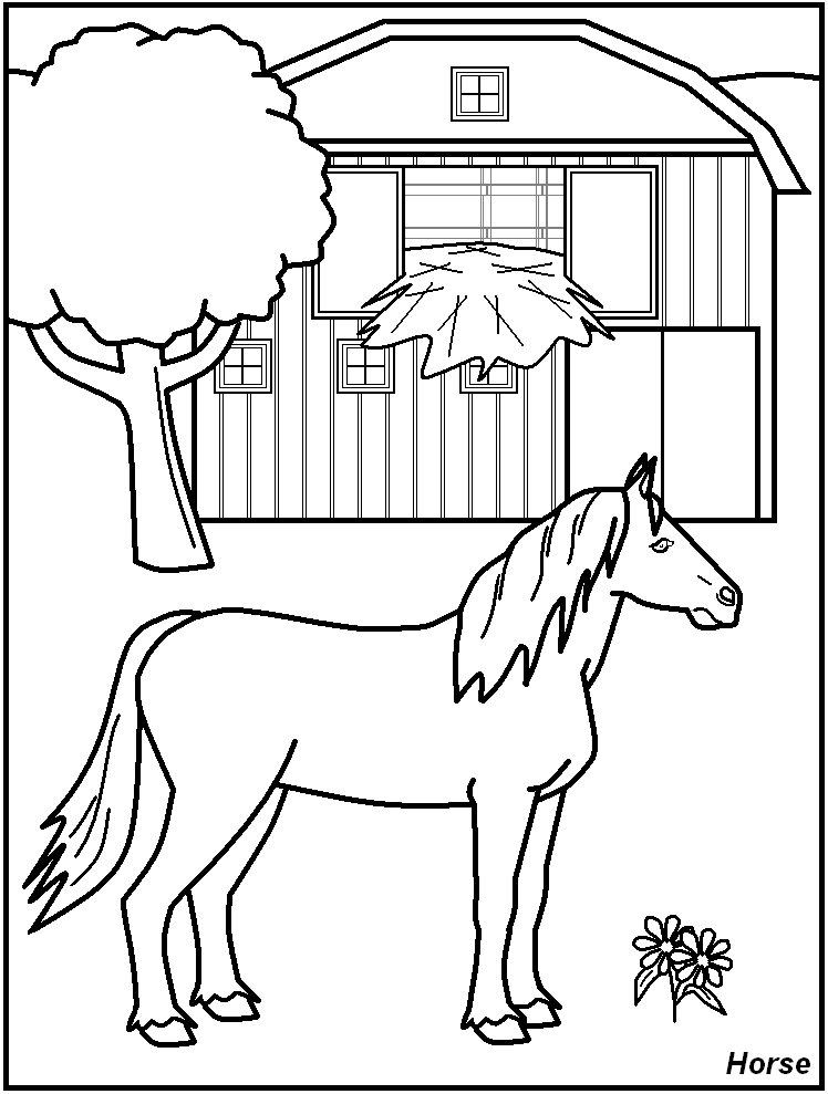 barn coloring pages for kids - photo#34