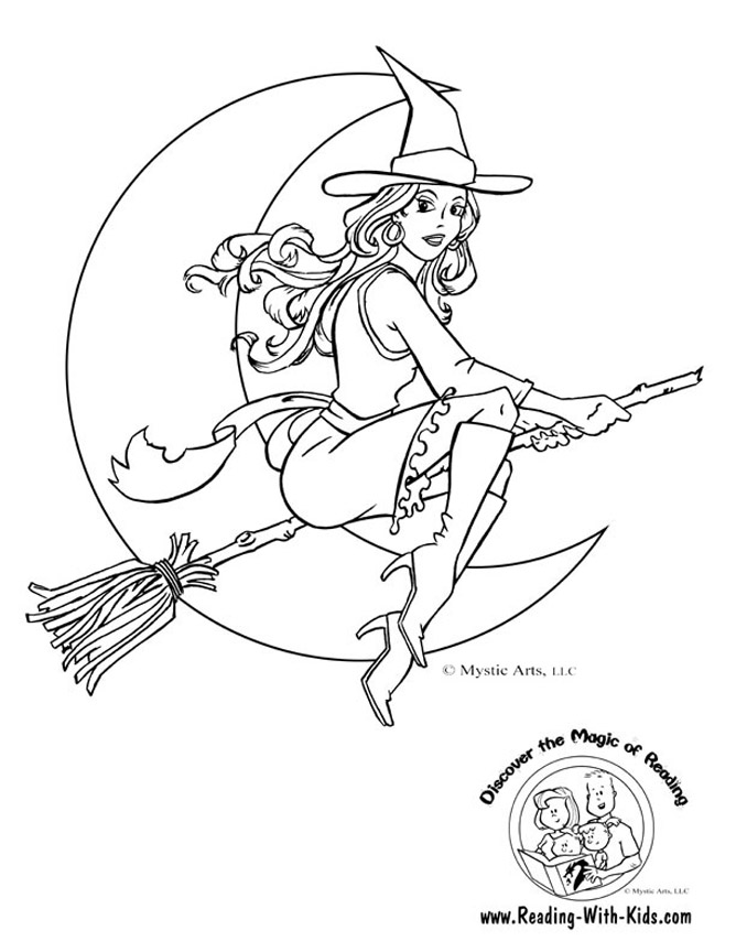 Coloring pages of witches az coloring pages for Witch color pages