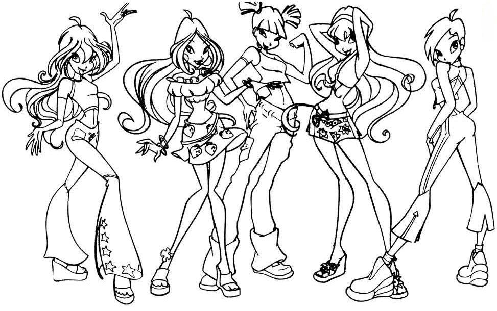 winx club online coloring pages - photo#14