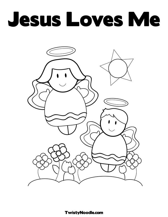 Free Inspired Coloring Pages Jesus Loves Me