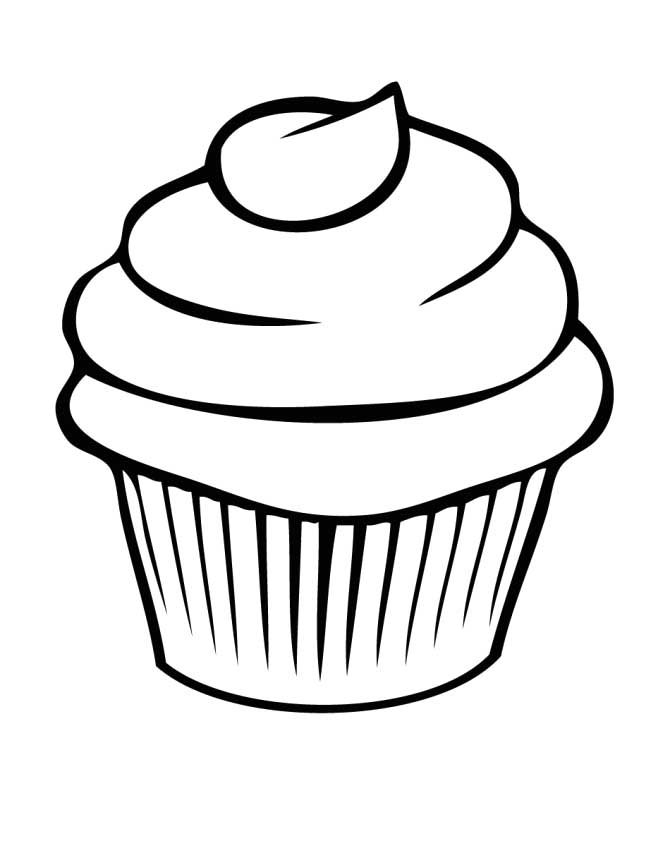 Colouring Pages For Cupcakes : Cupcake Coloring Page - AZ Coloring Pages