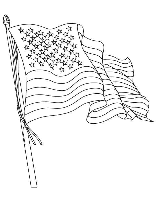 the american flag coloring page download free the american flag - Us Flag Coloring Page