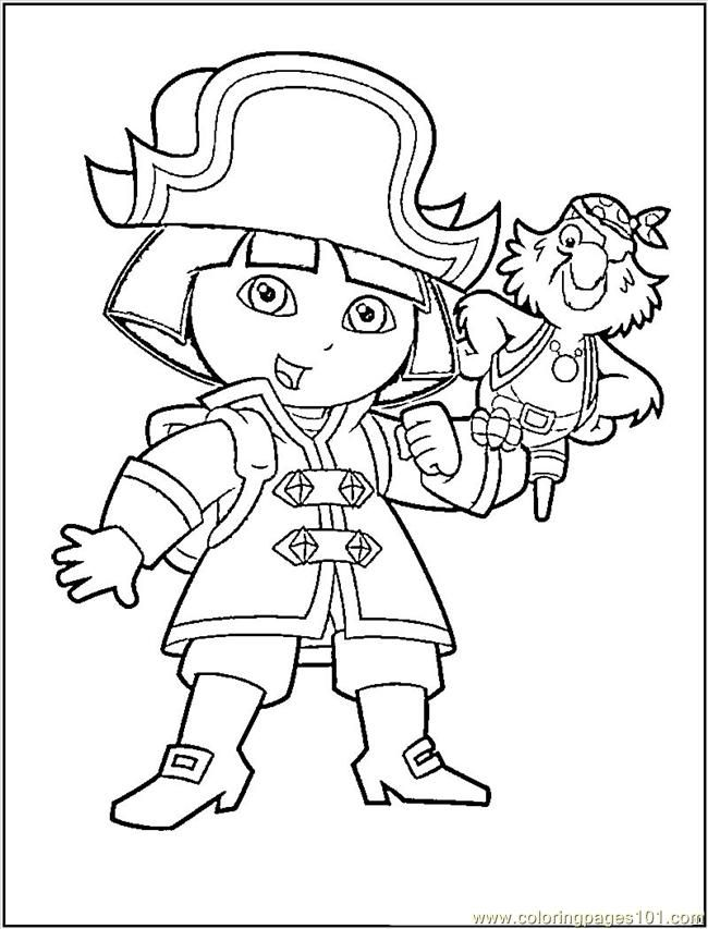 Free Pirate Coloring Pages For Kids Coloring Home The Explorer Coloring Page
